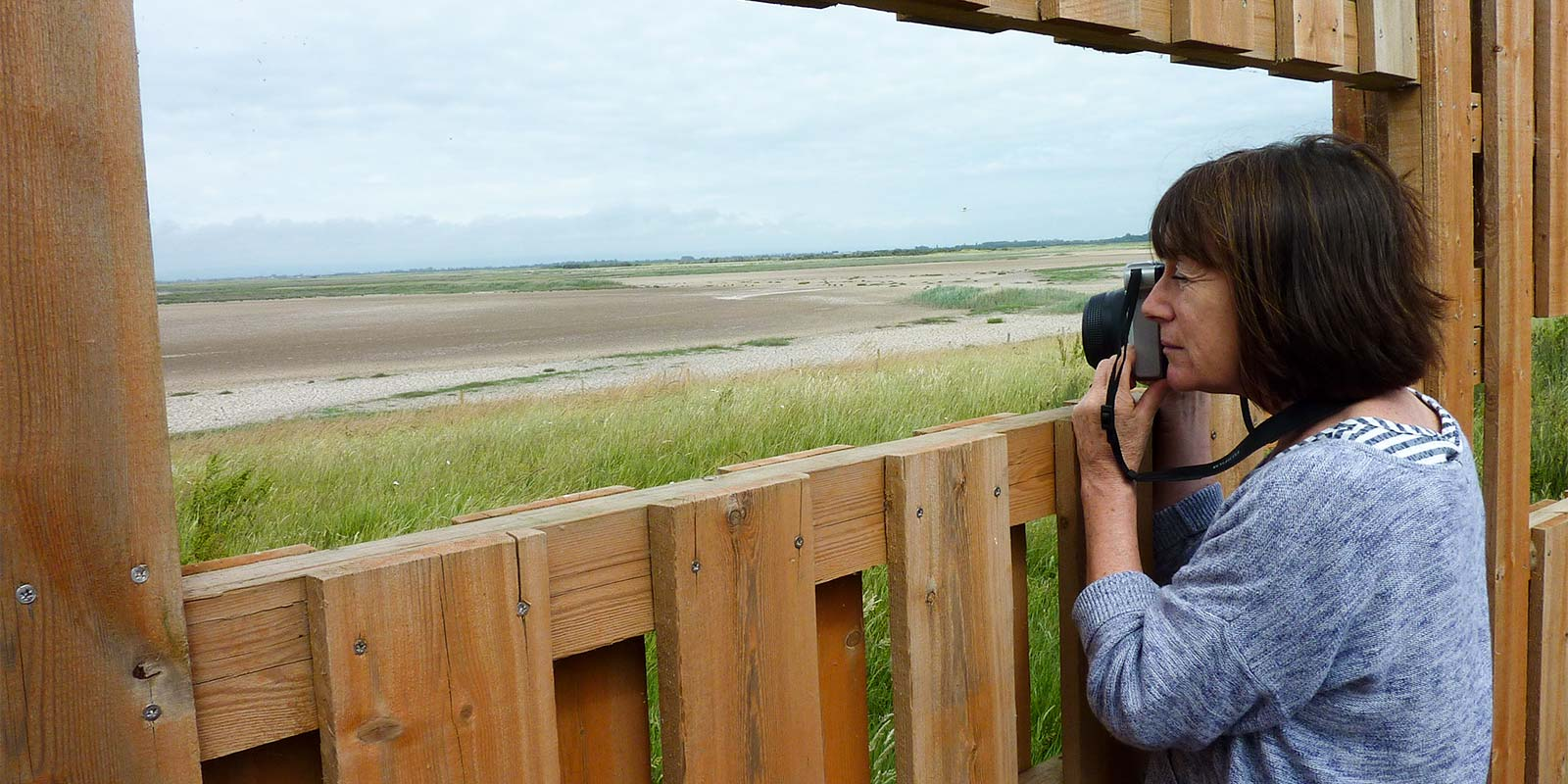 Lesley Roberts at Steart Marshes