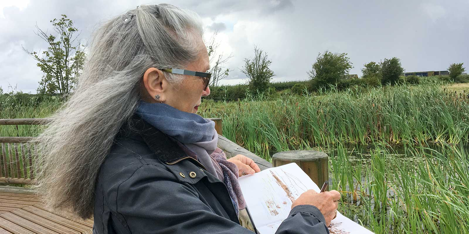 Pauline Lerry at Steart Marshes