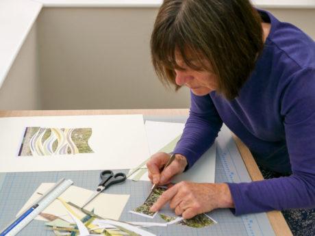 Lesley Roberts in her studio